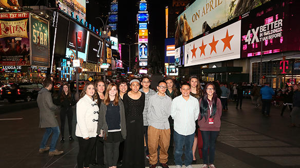 THMS 8th Graders @ Times Square for Spring Break field trip